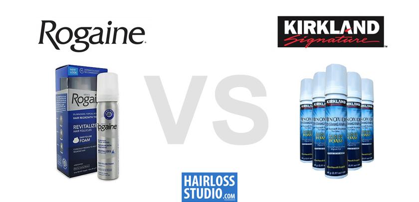 Mens Rogaine Minoxidil vs Kirkland Minoxidil